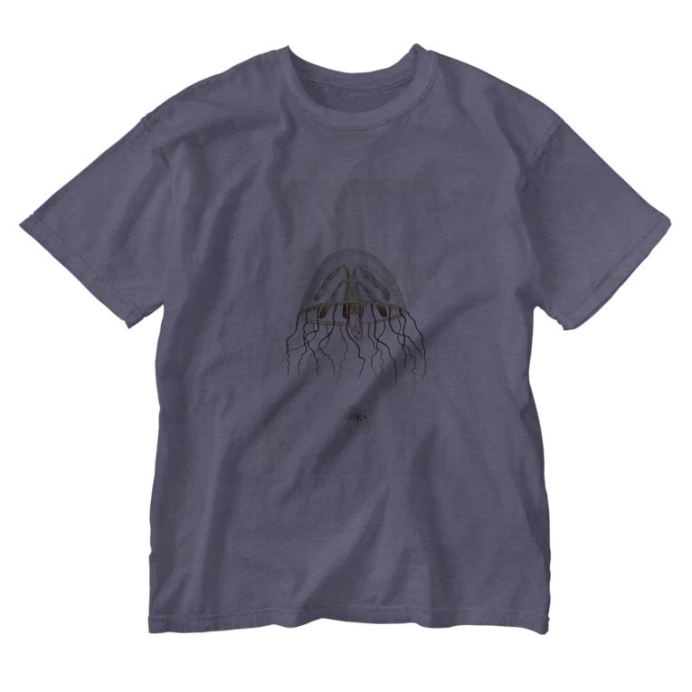 J. Jeffery Print Galleryのクラゲ Washed T-shirts