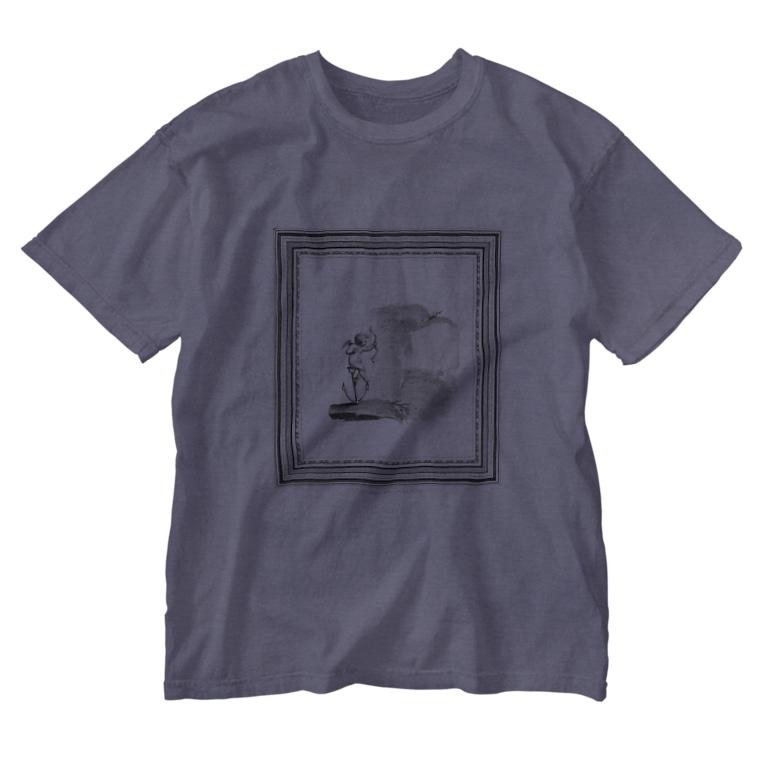 J. Jeffery Print Galleryの天使が矢を放つ Washed T-shirts