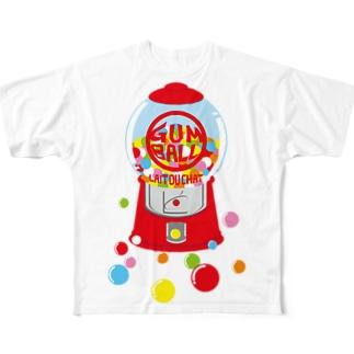 ガムボールマシーン-カラフル Full graphic T-shirts