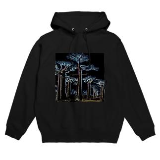 Night Baobab  Hoodies