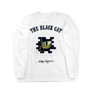 GubbishのThe Black Cat(淡色ボディ用) Long sleeve T-shirts