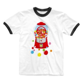 ガムボールマシーン-カラフル Ringer T-shirts