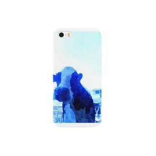 青の乳牛 Smartphone cases