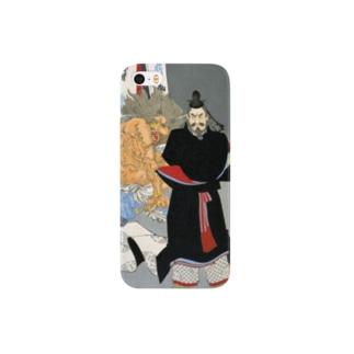 新形三十六怪撰 貞信公夜宮中に怪を懼しむの図【浮世絵・妖怪・公卿】 Smartphone cases
