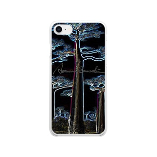 Night Baobab  Soft clear smartphone cases
