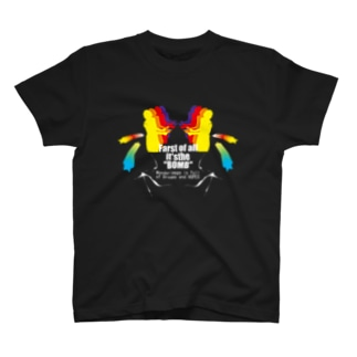 Wonder image is full of Dreams and hopes ブラック T-shirts