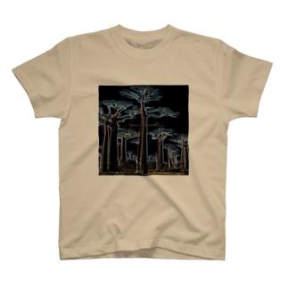 Akieem Zawadi's SHOPのNight Baobab  T-shirts