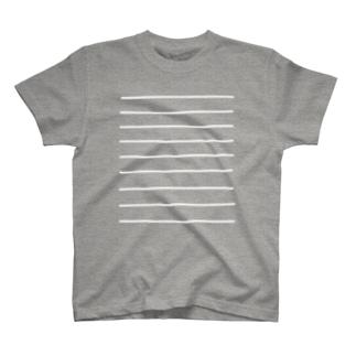 菅原商店のComic Line - 2 (White) T-shirts