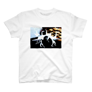 the tsuru with legs T-shirts