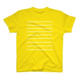 Comic Line - 2 (White) Tシャツ