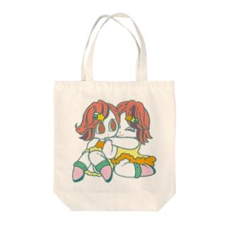 もーたんのふたごちゃん Tote bags