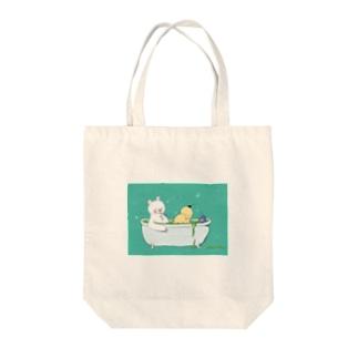 メロンソーダ風呂 Tote bags