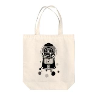 ガムボールマシーン-モノクロ Tote bags