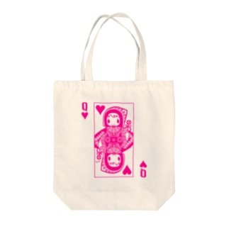 PINK HEART QUEEN Tote bags