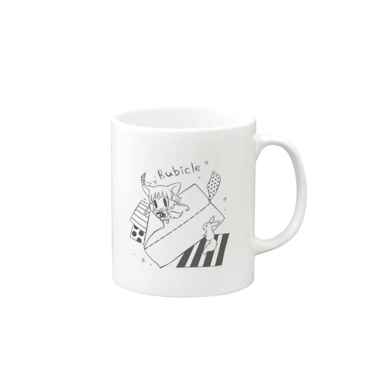 作るるびくる (モノクロ) マグカップ