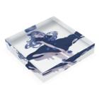 macoの青 Acrylic Blockの平置き