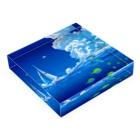 エムニジュウロクの風と海流 Acrylic Blockの平置き