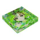 木川みくの盛夏とミント Acrylic Blockの平置き