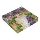 Cor Leonis SUZURI storeの翠雨に咲くアクリルブロック Acrylic Blockの平置き