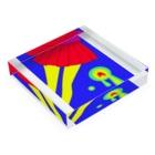 piorのスカート(ビビット) Acrylic Blockの平置き