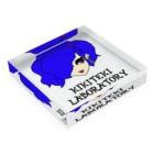 KIKITEKI_LABORATORYのPONITE GAL 青 × 紫 Acrylic Blockの平置き