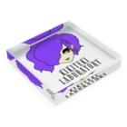 KIKITEKI_LABORATORYのPONITE GAL 紫 × 黄 Acrylic Blockの平置き
