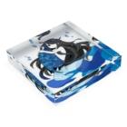 一束の青い椿から生まれた人魚 Acrylic Blockの平置き
