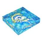 うずなか しいの青い眠り Acrylic Blockの平置き