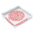 WgalleryCの1.hinomaru-kanji Acrylic Blockの平置き