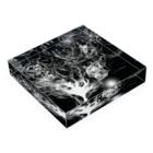 SKY CHOPのBlack drawing Acrylic Blockの平置き