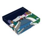 7センチの鴨  川 (夜) Acrylic Blockの平置き