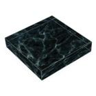 FrameCueの撮影雑貨店の撮影背景になるかも_大理石クラックBブラック Acrylic Blockの平置き