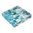 青空骨董市の煌めく海面とシーグラス Acrylic Blockの平置き