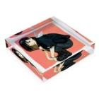 Warashiのわらしのアクリル Acrylic Blockの平置き