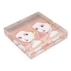 hamのpink girls Acrylic Blockの平置き