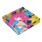 銀猫@絵垢+ご依頼受付中のプレゼントと女の子 Acrylic Blockの平置き