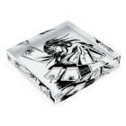 speramistの職業戦士『札士』(黒) Acrylic Blockの平置き