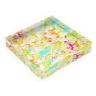 和の色彩 -wa_no_iroiro-のfloral dress Acrylic Blockの平置き