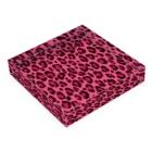 みや猫のヒョウ柄(ピンク) Acrylic Blockの平置き