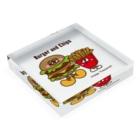 Creepy Treasures!のBurger and Chips Acrylic Blockの平置き