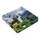 FUCHSGOLDのポルトガル:ぺーナ宮殿の風景写真 Portugal: Palácio Nacional da Pena / Sintra Acrylic Blockの平置き