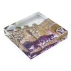 FUCHSGOLDのCG絵画:ぺーナ宮殿の風景画 CG art: Palácio Nacional da Pena / Portugal Acrylic Blockの平置き