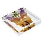 Hilo Diego Design Shopのボストンテリア ICE HOCKEY WARS(アイスホッケー ウォーズ)  Acrylic Blockの平置き