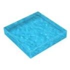 VARIOUS BRAND Official Shopの水色系モヤ柄 Acrylic Blockの平置き