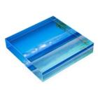 mizuphoto.comのHealing Blue Acrylic Blockの平置き