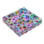 manmonjijiのcolorful flower Acrylic Blockの平置き