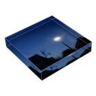 夜の青空の夜の青空0090 Acrylic Blockの平置き