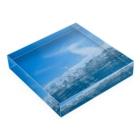 aliveONLINE SUZURI店の海 Acrylic Blockの平置き