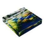 Parfume-weaverの季節の花シリーズ パンジーシャッフルバージョン Acrylic Blockの平置き