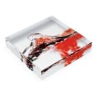 コウケツコタロウの混ざり合う液体 Acrylic Blockの平置き